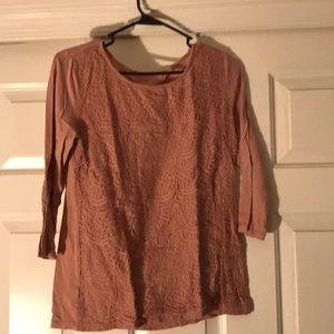 Light pink lace 3/4 T-shirt
